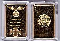 Deutsche Reichsbank Eisernes Kreuz Gold Goldbarren Barren 1 Oz 999 verg. Neu