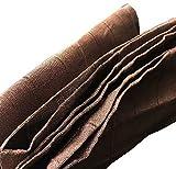 African Aso Oke Fabric 70in Long (Brown)