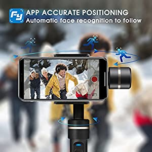 Waterproof Handheld Gimbal Camera Stabilizer, Feiyu Tech Upgraded Splash Waterproof Version SPG 360 Degree Bluetooth Face Tracking 3-Axis for Iphone Smart Phone, Gopro Hero 5, Sports Action Camera
