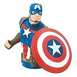 Marvel Captain America PVC Bust Bank, Multi Color