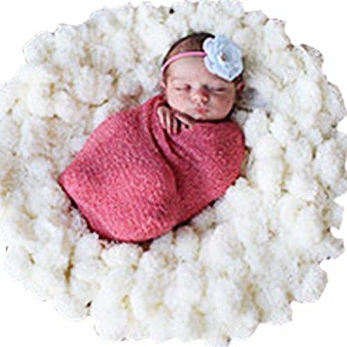 feeshow新生児幼児赤ちゃん写真写真小道具ソフトウールバックドロップBeanbagブランケットラグ   B06XHG94DM