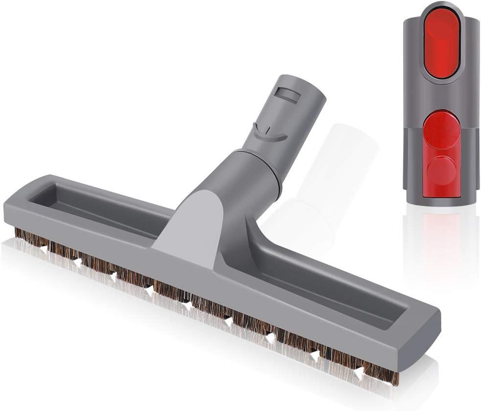 LANMU Articulating Hard Floor Tool for Dyson V11 V10 V8 V7 V6 Vacuum Cleaner, Brush Attachment with Adapter Converter (Gray)