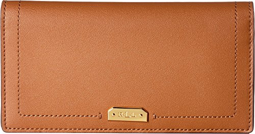 LAUREN Ralph Lauren Women's Dryden Slim Wallet Brown/Orange One Size