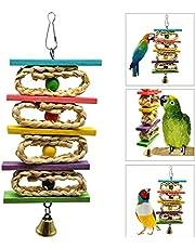 OSPet Pappagallo Giocattoli da masticare in legno colorato per uccelli piccoli e medi