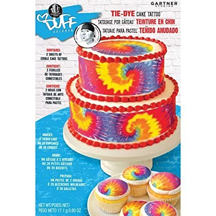 Wondrous Buy Tie Dye Cake Tattoo Edible Cake Cupcake Or Cookie Decoration Funny Birthday Cards Online Drosicarndamsfinfo