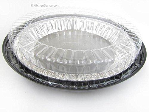A&W 10 Inch Low Dome Plastic Disposable/Reusable Pie Carr...
