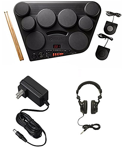 Yamaha DD75 8-Pad Portable Digital Drumset with Power Supply & Headphones