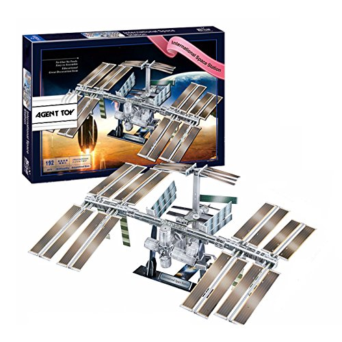Agent Toy NASA International Space Station 3D Jigsaw Puzzle DIY Architecture Brain Teaser Kids Family Fun, 192 pieces