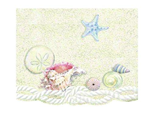 Carol Wilson Fine Arts Inc.- Sea Shells - Embossed & Die Cut Blank Note Cards in Portfolio Box - 10 count - ncp2343