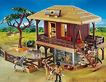Playmobil 4826 Rangerstation Wildlife mit Fahrzeug und Zubehör Abenteuer