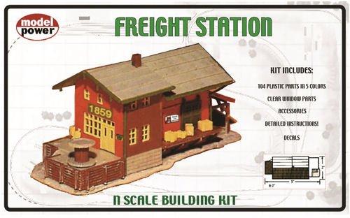 (Model Power 1576 Freight Station N)
