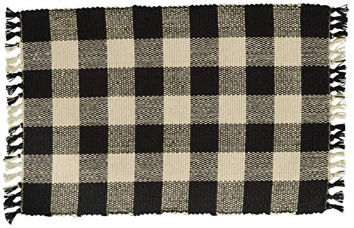 Details about Set of 4 Park Designs WICKLOW Placemats -Black and Tan Buffalo Check (Mat Design)