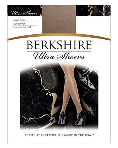 Berkshire Women's Ultra Sheer Control Top Sandalfoot Pantyhose 4415, Natural Tan, -