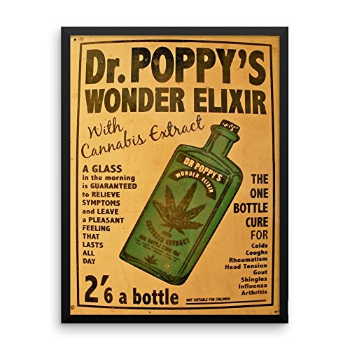 Vintage poster - Dr. Poppy's Wonder Elixir 0160 - Enhanced Matte Paper Framed Poster (18x24)