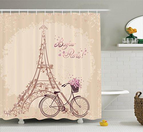 ambesonne-paris-decor-collection-bonjour-paris-eiffel-tower-and-vintage-bicycle-with-flowers-retro-s