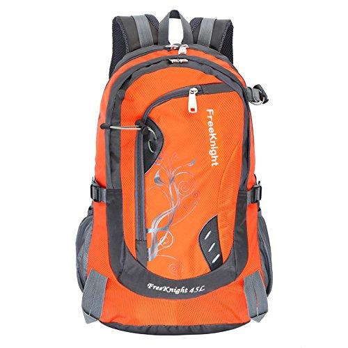 Mountaineering Bag Outdoor Männer und Frauen Schulter Rucksack wasserdicht Wanderpackage Bergsteigen Taschen , orange