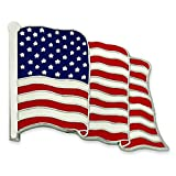 PinMart's Made in USA American Flag Jewelry Quality Silver Lapel Pinr