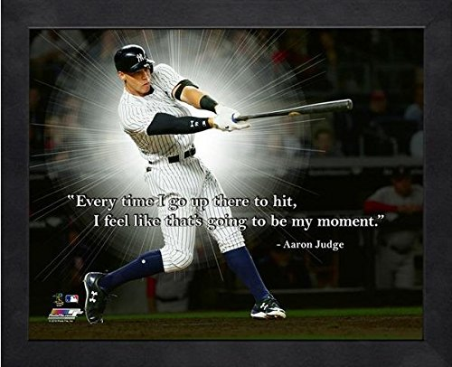 Aaron Judge NY Yankees ProQuotes Photo (Size: 9'' x 11'') Framed by Photo File
