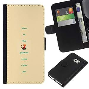 NEECELL GIFT forCITY // Billetera de cuero Caso Cubierta de protección Carcasa / Leather Wallet Case for Samsung Galaxy S6 EDGE // Divertido P0kemon
