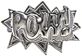 GWOOD POW Ring Two Finger Hip Hop Style Gunmetal Color