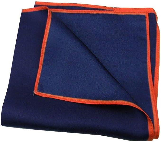 Pochette da Taschino Uomo Seta Blu con Bordi in Contrasto Vari Colori Forti Avantgarde