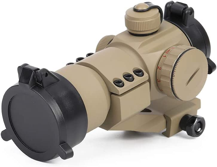 Laecabv M3 Red Dot Sight Green Dot Sight Optic Tactical Reflex Sight Scope Sighting Telescope Includes Picatinny Mount