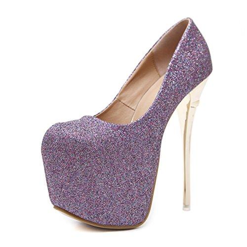 Nueva Zapatos manantial Cabeza Redonda Zapatos Ligera y Delgada Gris ZHZNVX La es Altos con Claro 39 Agua de Femeninos Singles azgwp