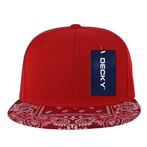 DECKY Bandanna Snapbacks Bandana Cap (One Size, Red / Red)