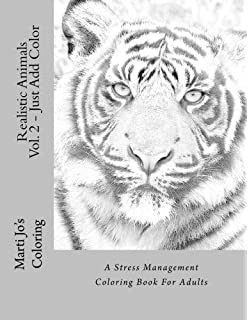 Amazon big cats coloring book realistic adult coloring book realistic animals vol 2 just add color a stress management coloring book for publicscrutiny Images