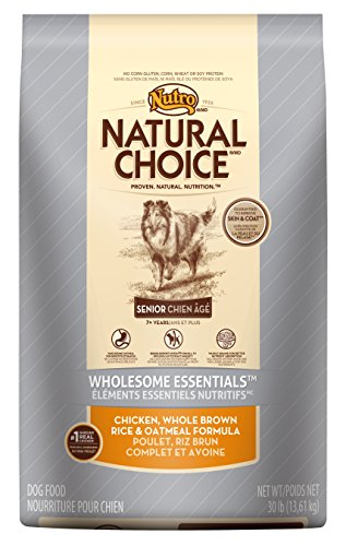 NATURAL CHOICE Senior Wholesome Essentials Chicken, Whole Brown Rice and Oatmeal Formula, 30 lbs.