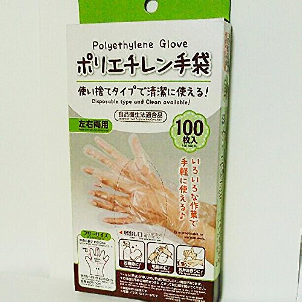 日常的に大宇宙協同ポリエチレン手袋 100枚入り