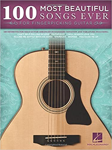 Amazon.com: 100 Most Beautiful Songs Ever For Fingerpicking Guitar ...