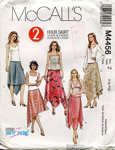 McCall's Pattern M4456 Misses/Miss Petite 2 Hour Skirts, Size Z (Lrg-XLg) -