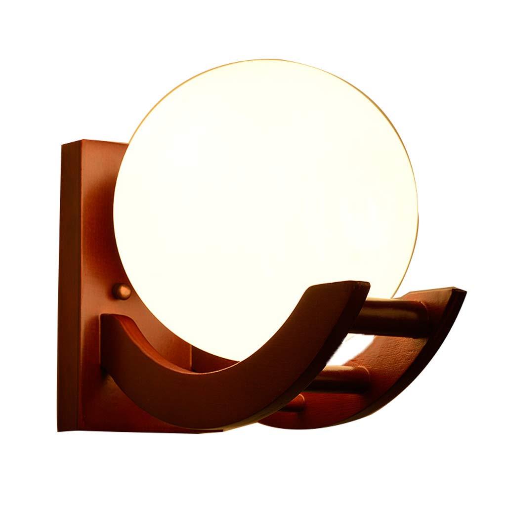 MLX Wandlampe, Schlafzimmer LED-Wandlampe Warme Nachttischlampe Klassischen Chinesischen Massivholz Chinesischen Stil Korridor Gang Wohnzimmer Wandleuchte (Farbe   Warmes Licht)