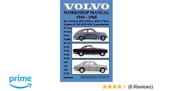 volvo 1944 1968 workshop manual pv444 pv544 p110 p1800 pv445 rh amazon com 1966 PV544 1960 Volvo PV544