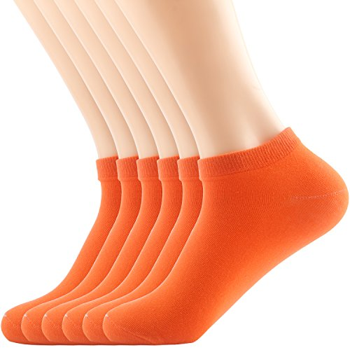 Socks Pro Feet Anklet (Areke Womens Colorful No Show Low Rise Short Ankle Socks,Soft Cotton Peformance Thin Soxs Active Cool Color Yellow 6 Packs Size A)