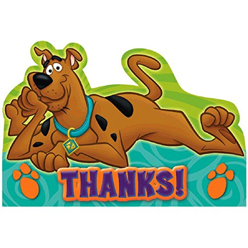 Amscan Awesome Scooby-Doo Birthday Party Postcard Thank You Cards, Paper Childrens, 5