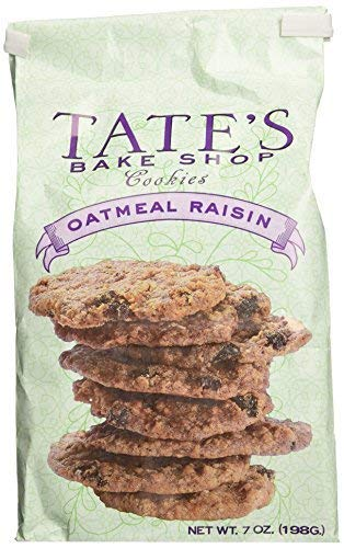 Tate's Bake Shop All Natural Oatmeal Raisin Cookies 7oz (Pack of 3)