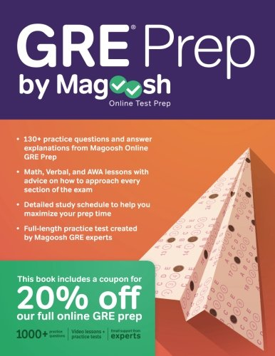GRE Prep by Magoosh cover