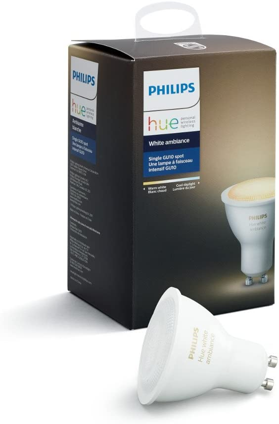 Hue White Ambiance GU10 Wi-Fi Smart LED Bulb