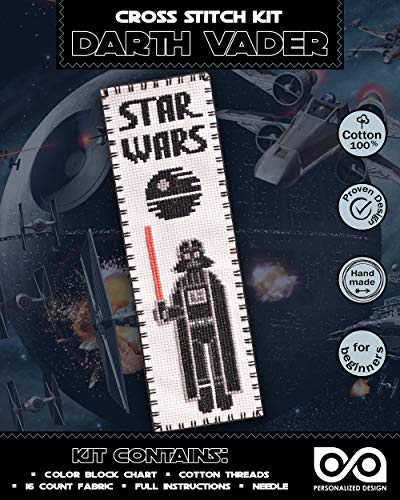 Embroidery Kit 'Star Wars: Darth Vader' - Cross Stitch Bookmark