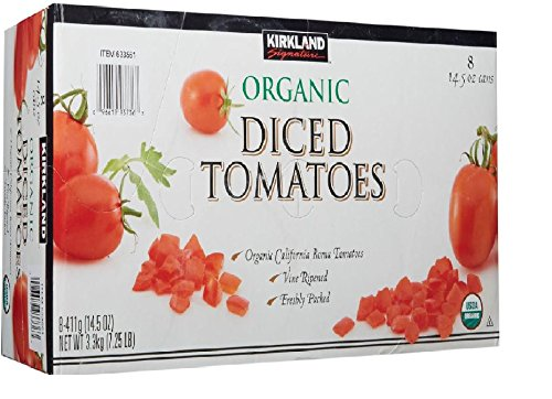 Kirkland Signature Organic Diced Tomatoes, 7.25 Pound (Organic Canned Tomatoes)