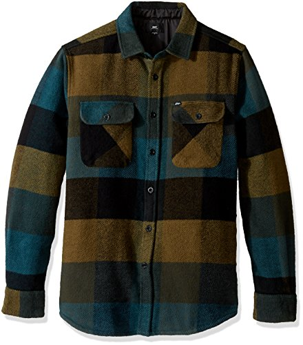 Obey OBEY Men's Wallace Woven Shirt, Blue/Multi, S B01FJMFR42