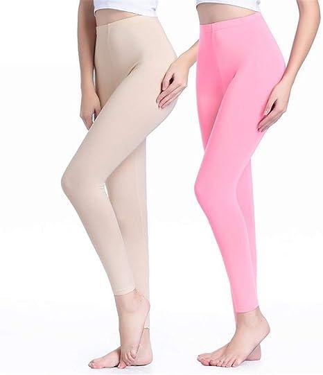 DAJOIEE Leggins Pantalones Largos de 2 Piezas Pantalones Delgados para Mujer Pantalones de Cintura Alta Pantalones de una Pieza Polainas Algodón, XXL: Amazon.es: Deportes y aire libre