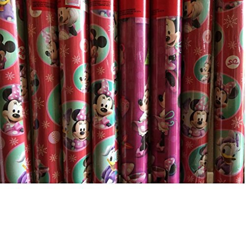 (Minnie Mouse ~BOW-TIQUE~ Christmas Wrapping Paper 40 Sq Ft (1 Roll))