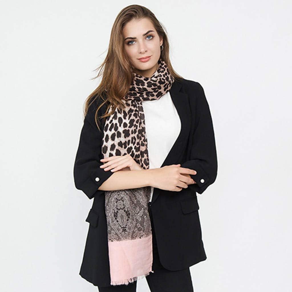 Womens Leopard Lace Scarf Sweet Elegant Creative Mix Design Shawl Pashimina Cozy Winter Gift Sunlucky AW2019