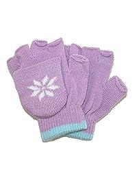 CTM® Girls' Stretch Convertible Fingerless Winter Mittens/Gloves