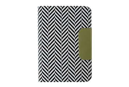 Puregear Horizontal Soft Case - Puregear 10 inch Tablet Case universal folio and business card holder in black and white herringbone pattern