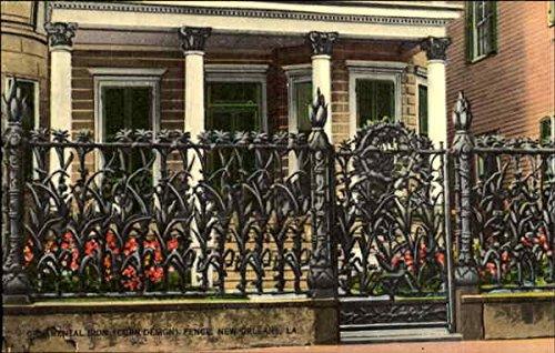 ornamental-iron-fence-new-orleans-louisiana-original-vintage-postcard