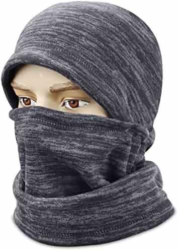 96e0c60fe4507 mysuntown Ski Face Mask Balaclava Fleece Hood for Men Women